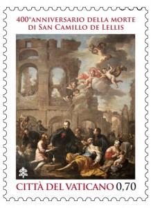 Il francobollo emesso dalle Poste Vaticane