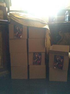 Le scatole contenenti le intenzioni di preghiera