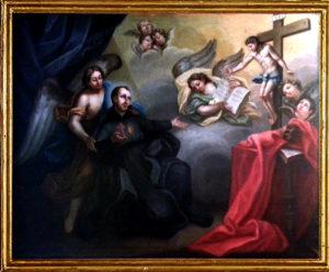 Crocifisso conforta Camillo [Convento 7 Dolori - Maratta]