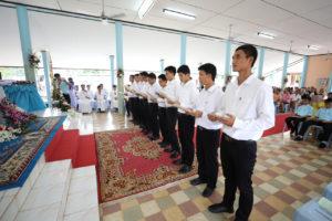 Neo novizi di cui 10 Thailandesi e 5 Vietnamiti